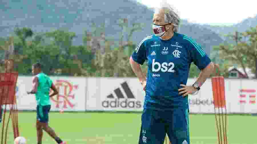 Jorge Jesus comanda treino do Flamengo em meio à pandemia de coronavírus - Alexandre Vidal / Flamengo