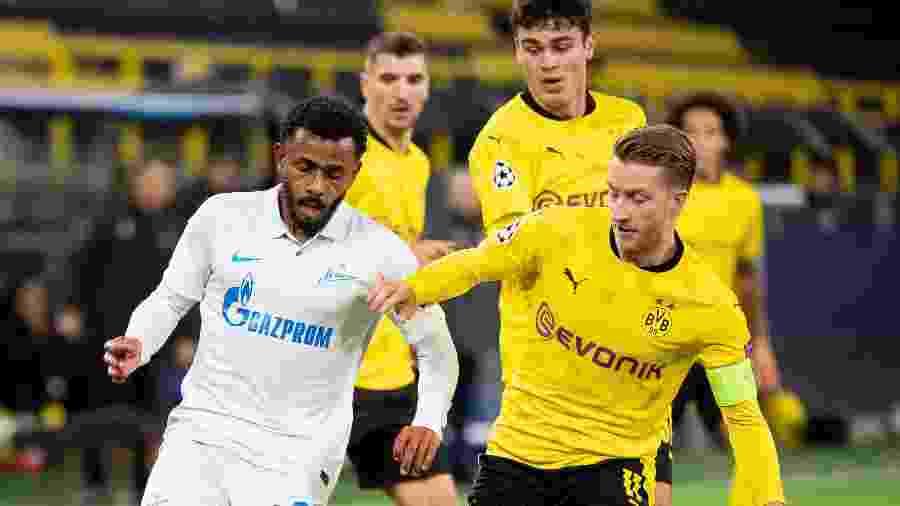 Zenit e Borussia Dortmund jogam pela segunda rodada da Liga dos Campeões no Signal Iduna Park - Alex Gottschalk/Getty Images