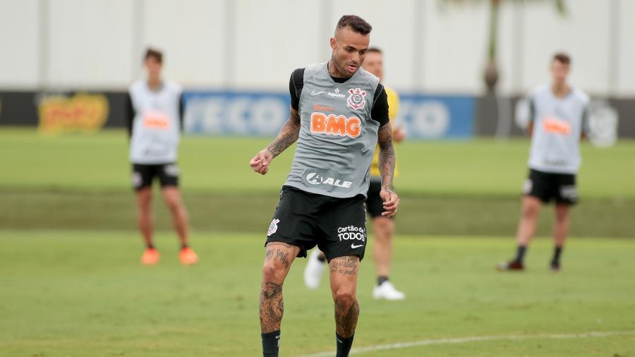 Luan participa de treino do Corinthians no CT Joaquim Grava - Rodrigo Coca/Ag. Corinthians