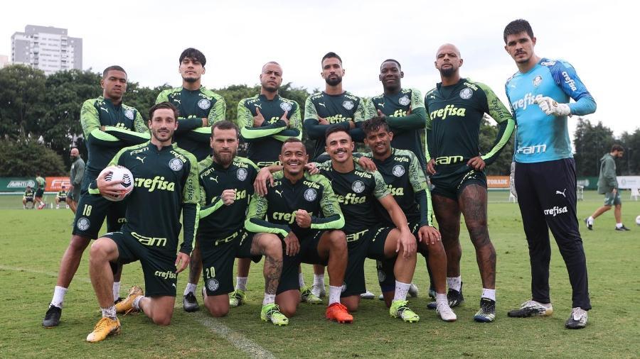 Elenco do Palmeiras se prepara para a Recopa - Cesar Greco/ Ag. Palmeiras
