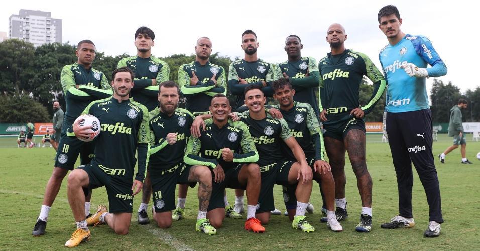 Elenco do Palmeiras se prepara para a Recopa