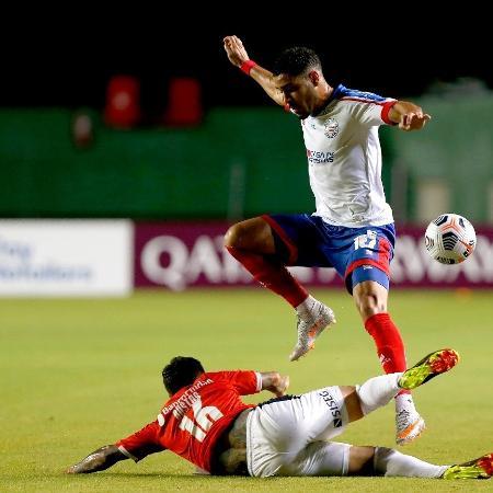 Bahia e Independiente empataram em 2 a 2 no primeiro jogo  - Felipe Oliveira/EC Bahia