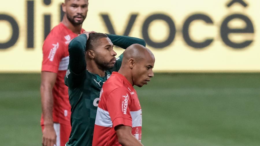 Wesley lamenta chance em Palmeiras x CRB pela Copa do Brasil  - Marcello Zambrana/AGIF