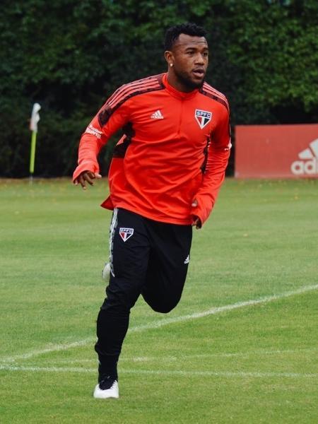 Luan, durante treino do São Paulo - Fellipe Lucena/São Paulo FC
