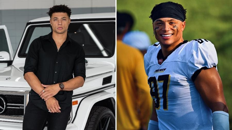 Chase DeMoor é jogador de futebol americano e participou da segunda temporada do reality Brincando com Fogo - Reprodução