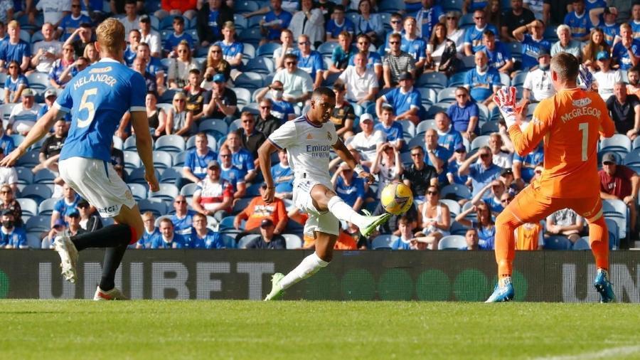 Rodrygo marca único gol do Real Madrid em derrota para o Rangers em jogo amistoso - Real Madrid/Divulgação