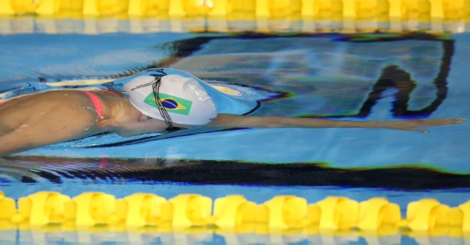 Manuella Lyrio terminou na segunda colocação na classificatória dos 200m livres da natação