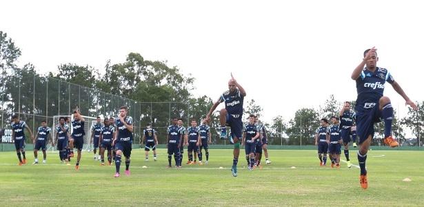 Palmeiras passou nove dias em Itu antes de viajar ao Uruguai - Cesar Greco/Ag Palmeiras