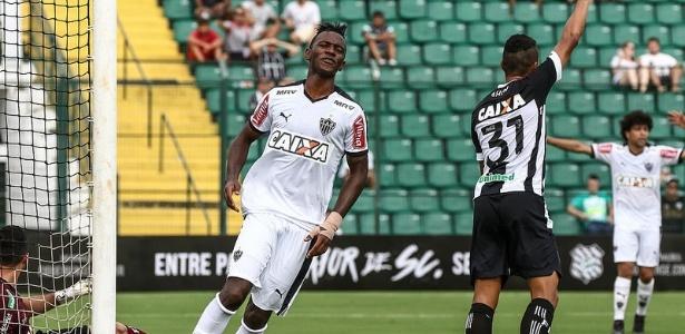Hyuri disputou 36 partidas pelo Atlético-MG e marcou somente quatro gols