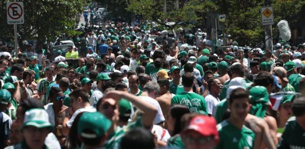Torcida do Palmeiras promete festa para time em jogo pela Libertadores