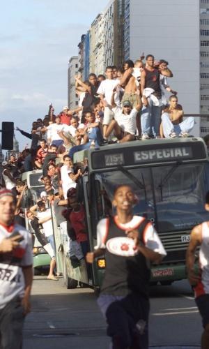 A Torcida Jovem do Flamengo foi banida dos estádios por três anos após episódios de violência