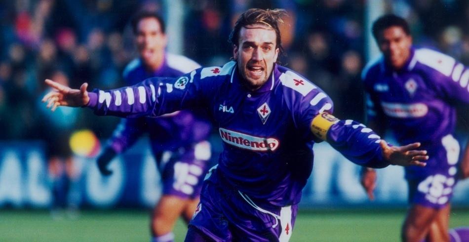Argentino Gabriel Batistuta fez da Fiorentina uma equipe de respeito durante os anos 90