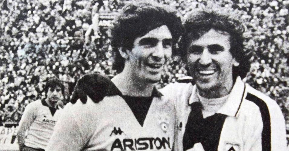 """Um """"revival"""" de Sarriá (Copa de 1982): Zico com o algoz Paolo Rossi"""