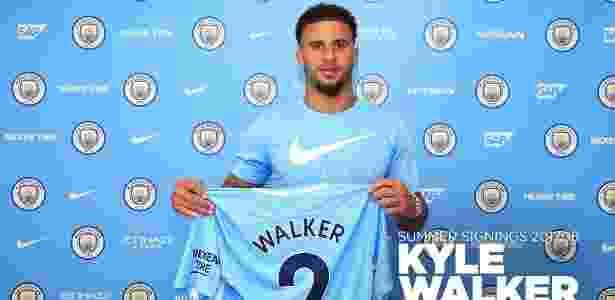 Kyle Walker custou mais de 50 milhões de euros ao Manchester City - Divulgação/Manchester City