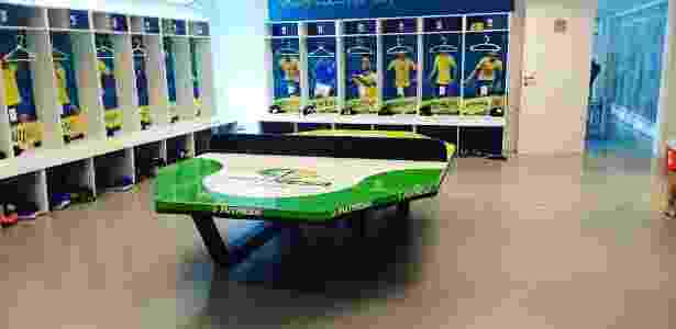 Mesa de futmesa no CT da seleção brasileira em Teresópolis - Divulgação - Divulgação