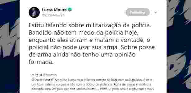 Lucas Moura conversa com torcedores sobre ideias de Bolsonaro - Reprodução/Instagram - Reprodução/Instagram