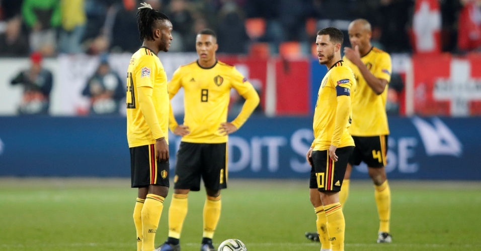 Eden Hazard Vicent Kompany Bélgica Suíça