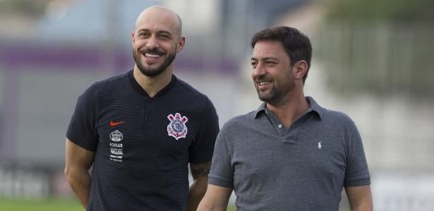 Alessandro Nunes e Duílio Monteiro Alves buscam a contratação de um centroavante - Daniel Augusto Jr. / Ag. Corinthians