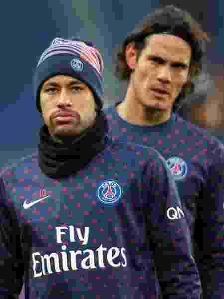 Neymar treina no PSG e é observado por Cavani - Charles Platiau/Reuters