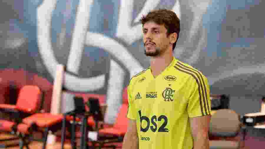 O zagueiro Rodrigo Caio faz boa temporada com a camisa do Flamengo - Alexandre Vidal / Flamengo