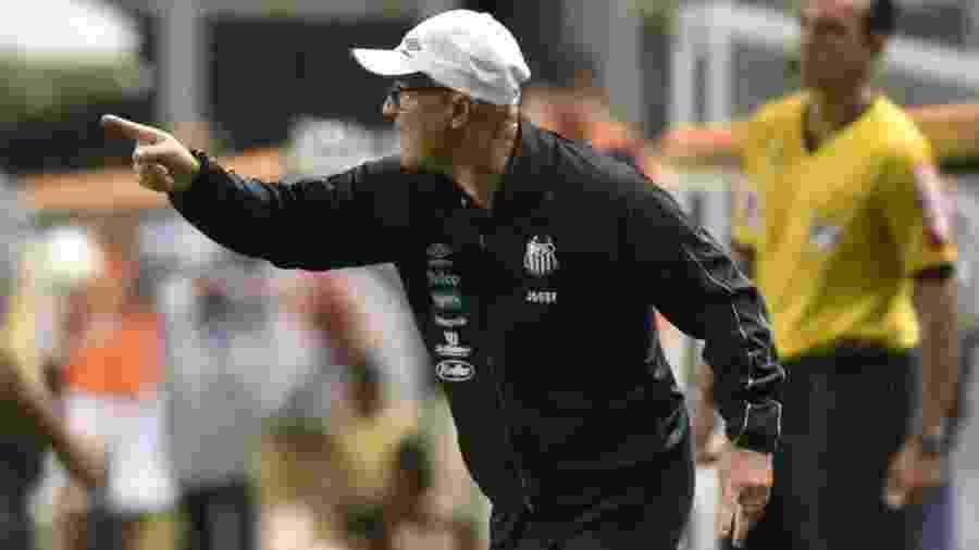 Jorge Desio, auxiliar de Jorge Sampaoli, que comandou o Santos contra o Atlético-MG - Ivan Storti/Santos FC