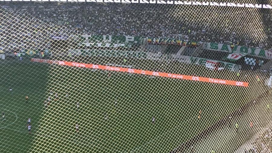 Visão da torcida visitante no Allianz Parque durante jogo entre Palmeiras e Bahia - André Lessa/Arquivo pessoal