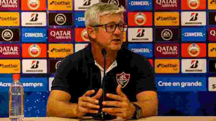 Odair Hellmann lamentou eliminação do Fluminense na Copa Sul-Americana - Lucas Merçon/Fluminense FC
