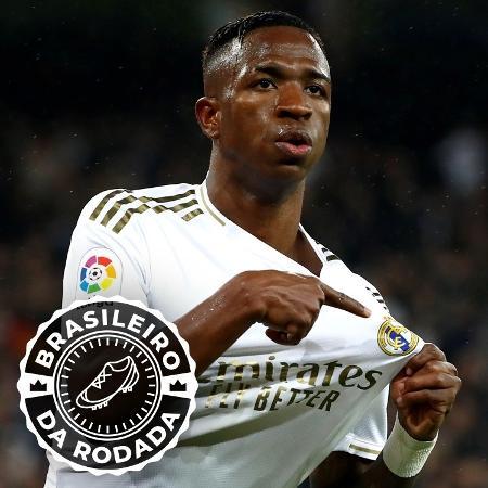 Vinicius Júnior se tornou o mais jovem a marcar no clássico Real Madrid x Barcelona - Arte/UOL