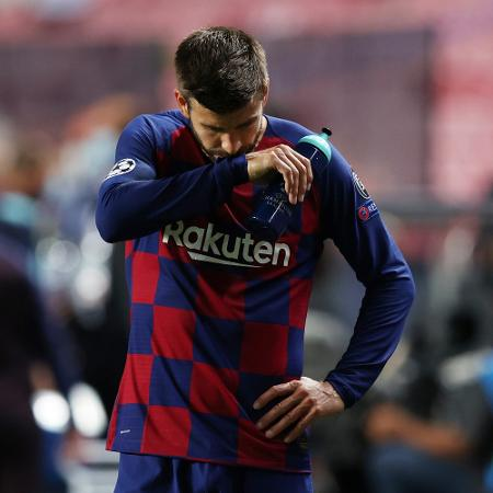 Gerard Piqué na derrota histórica do Barça para o Bayern de Munique  por 8 a 2 - REUTERS/Rafael Marchante