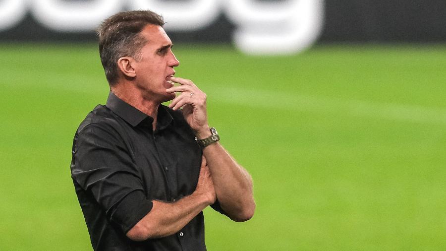 Vagner Mancini comanda o Corinthians em jogo contra o Ceará no Brasileirão 2020 - Marcello Zambrana/AGIF