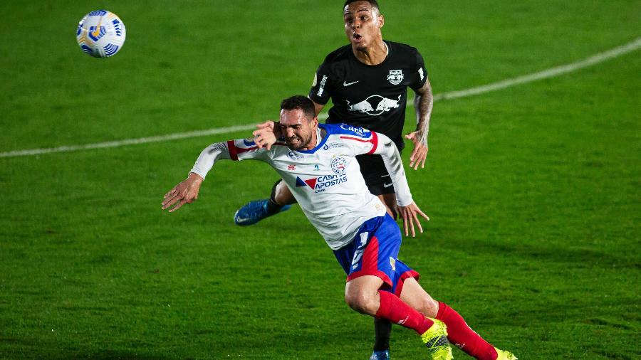 Red Bull Bragantino e Bahia empataram por 3 a 3 no jogo do primeiro turno - Diogo Reis/AGIF