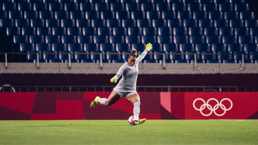 Bárbara durante partida da seleção brasileira contra a Zâmbia pelas Olimpíadas - Sam Robles/CBF