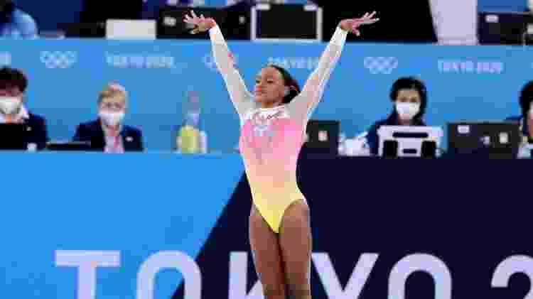 Rebeca Andrade na apresentação na final do solo nos Jogos Olímpicos de Tóquio - Ricardo Bufolin/CBG - Ricardo Bufolin/CBG