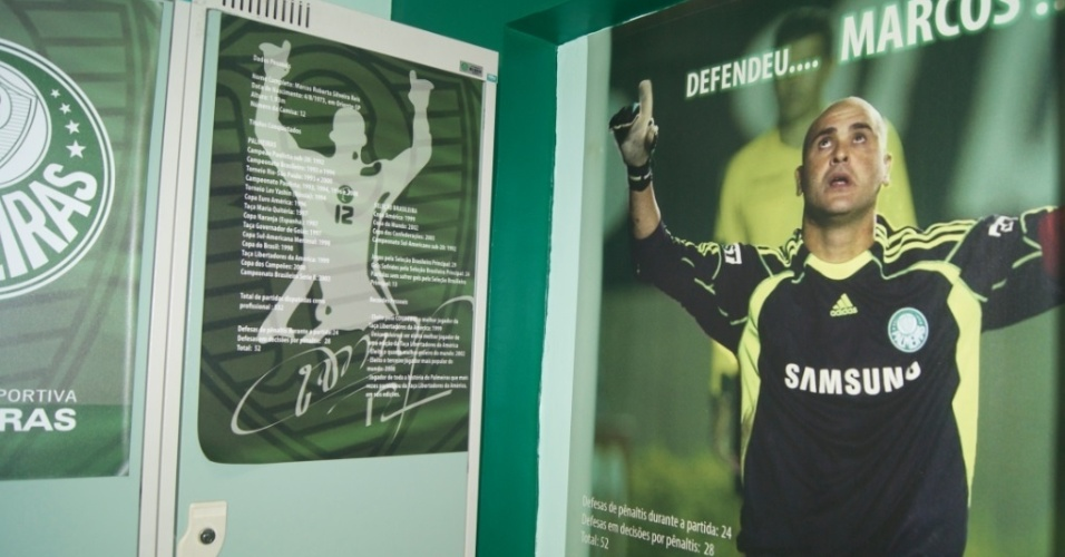 Marcos mantém armário na Academia de Futebol mesmo depois da aposentadoria