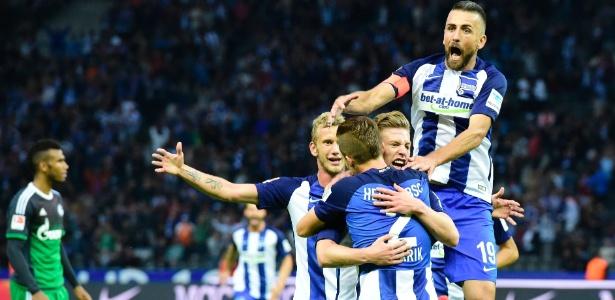 Hertha Berlim segue com 100% de aproveitamento no Campeonato Alemão - AFP / TOBIAS SCHWARZ