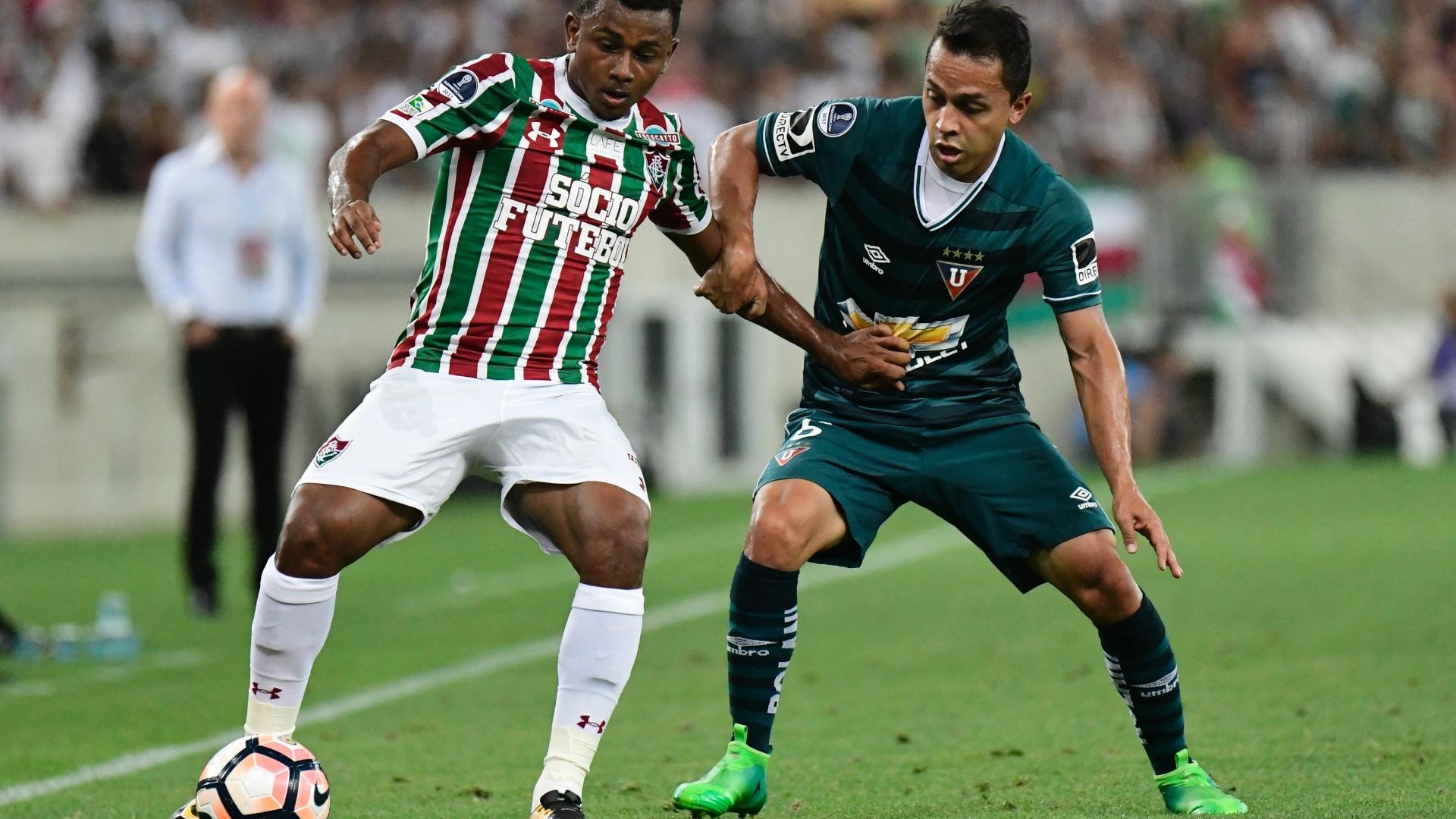Wendel em ação pelo Fluminense contra a LDU