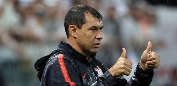 Técnico Fábio Carille destacou atuação do Corinthians no primeiro tempo