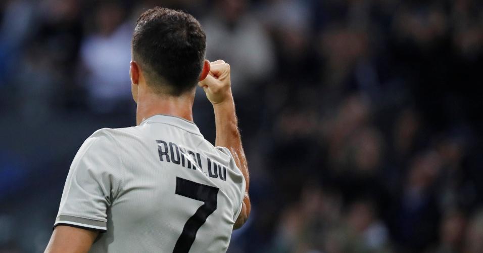 Cristiano Ronaldo marca gol pela Juventus contra a Udinese