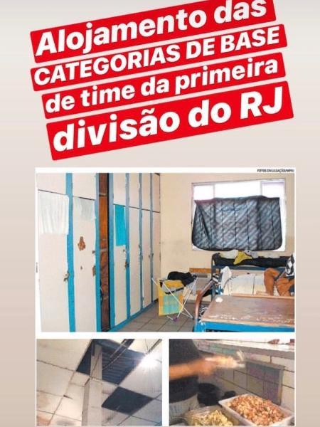 Alojamento das categorias de base de time da Primeira Divisão do Rio - Reprodução / Instagram