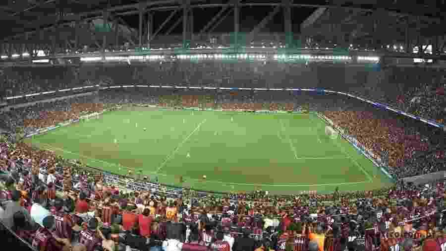 Torcida do Athletico lota a Arena da Baixada; Rubro-negro recebe Inter para definir o título - Divulgação/Athletico