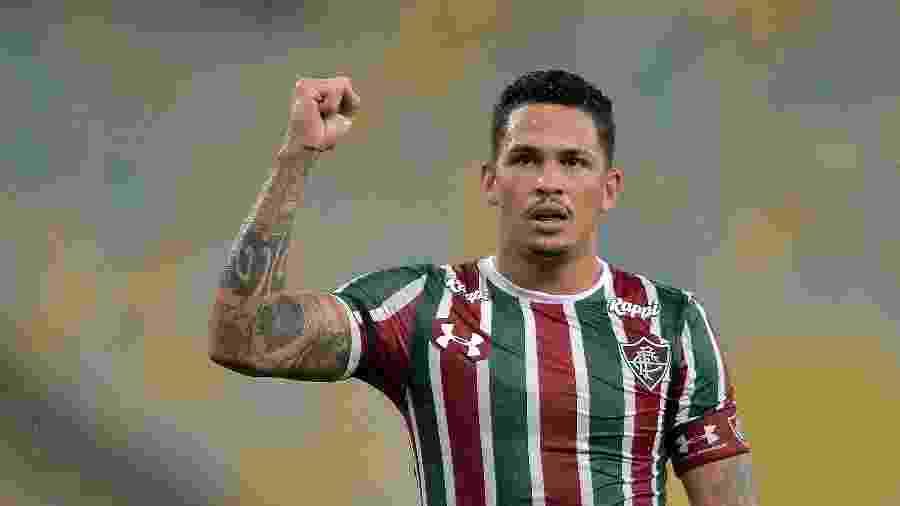 Luciano comemora gol em partida contra o Luverdense, pela Copa do Brasil deste ano - Thiago Ribeiro/AGIF