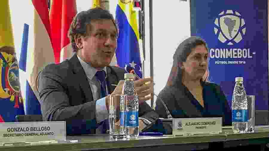 Alejandro Dominguez, presidente da Conmebol, fez o pedido a Gianni Infantino  - Pedro Ivo Almeida/UOL Esporte
