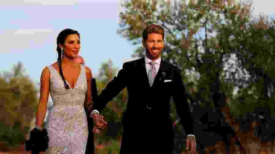 Sergio Ramos durante seu casamento - Reuters/ Marcelo del Pozo