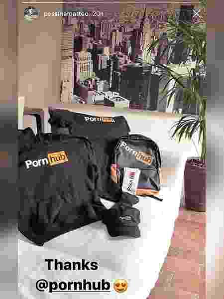 Matteo Pessina recebeu presentes do site Pornhub - Reprodução