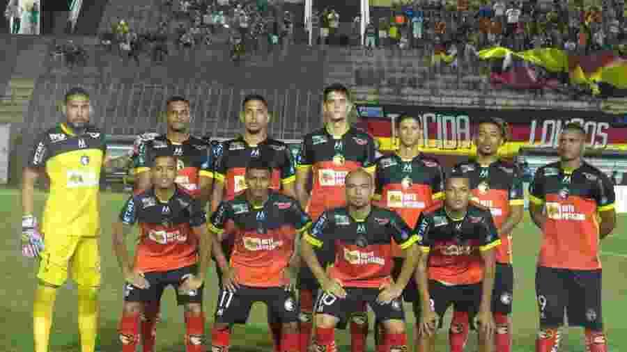 Jogadores do Globo FC antes de partida contra o Botafogo-PB, no estádio Barretão - Rhuan Carlos/GloboFC