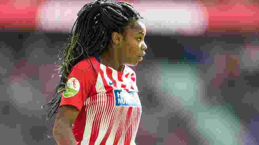 Ludmila, atacante da seleção brasileira feminina de futebol e do Atlético de Madri - TF-Images/Getty Images
