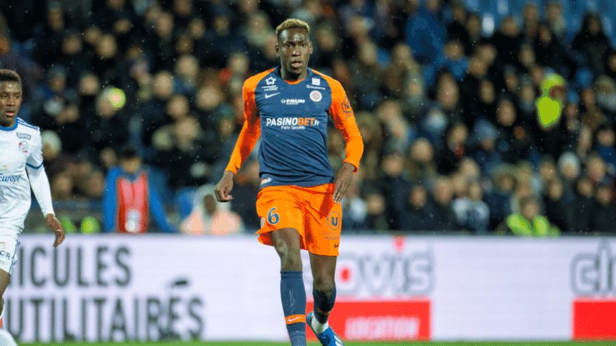Junior Sambia, em partida do Montpellier, em 29 de fevereiro de 2020 - Tim Clayton/Corbis via Getty Images