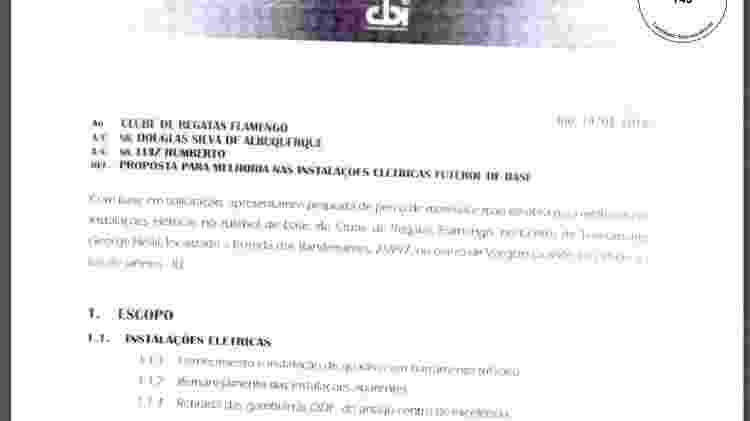 Orçamento CBI Flamengo Ninho 2018 - Reprodução - Reprodução