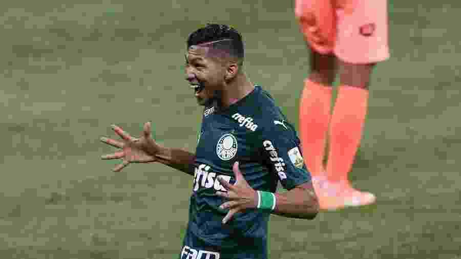 Rony comemora seu gol contra o Bolívar, o primeiro pelo Palmeiras - Cesar Greco