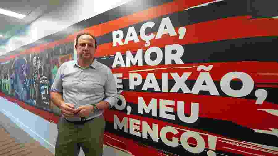 Rogério Ceni no CT do Flamengo. Técnico estreia pelo clube no Brasileiro - Alexandre Vidal/Divulgação